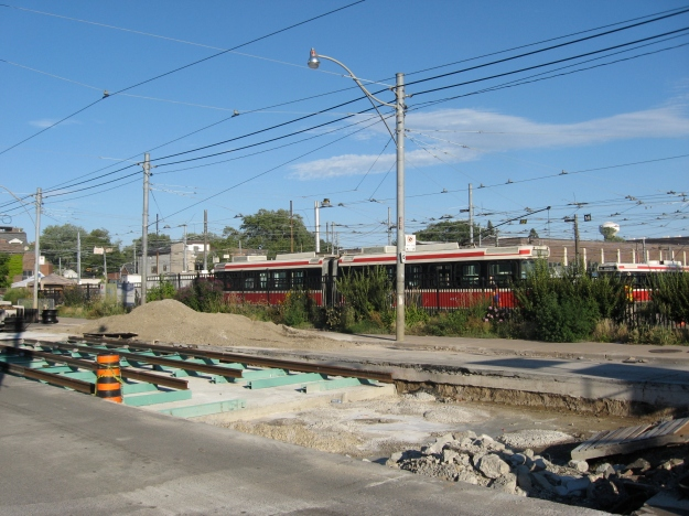 Queen East at Connaught car barns