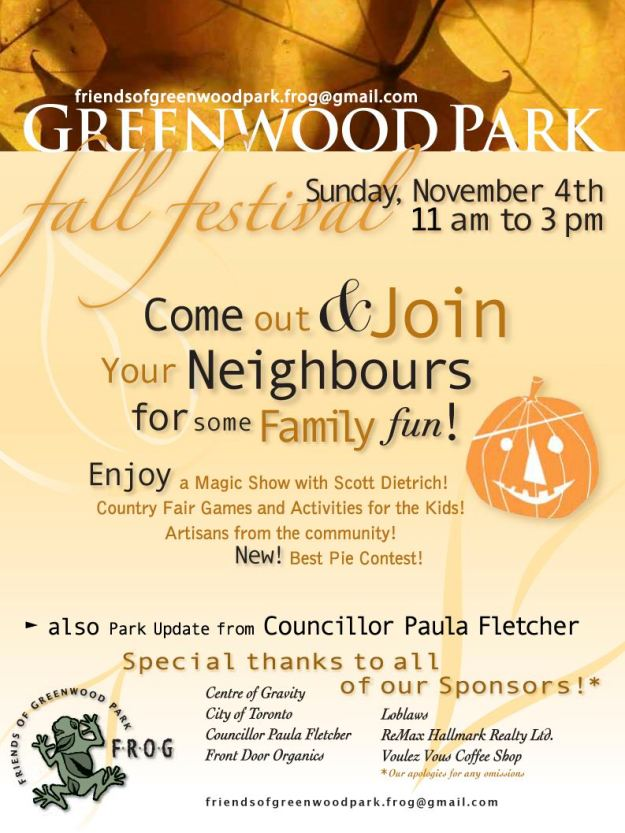 Greenwood Park Fall Festival 2012