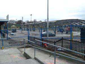 Greenwood Park rink construction Jan. 17, 2013