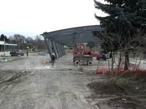 Greenwood Park skating rink construction