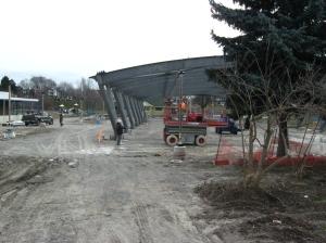 Greenwood Park skating rink construction