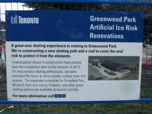 Greenwood Park rink delay