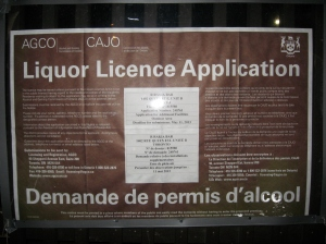 Rakia 1402 Queen East Toronto application outdoor liquor licence