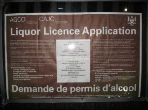 Rakia 1402 Queen East Toronto application outdoor liquor licence