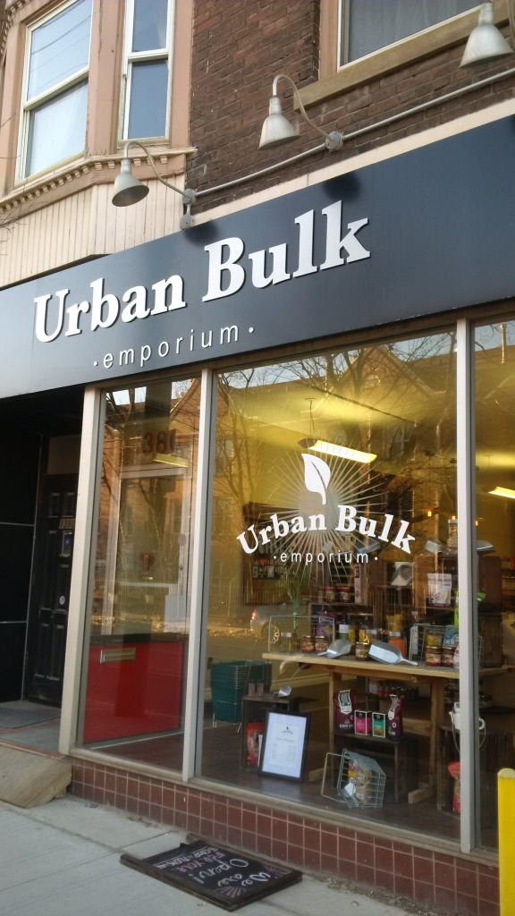 Urban Bulk Emporium, former site of The Film Buff, and before that, Acadian Carpet