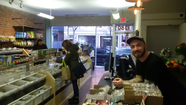 Cory at Urban Bulk Emporium, 1380 Queen East, March 18, 2015