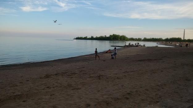 Beach at Ashbridge's Bay Park, Toronto, June 2015