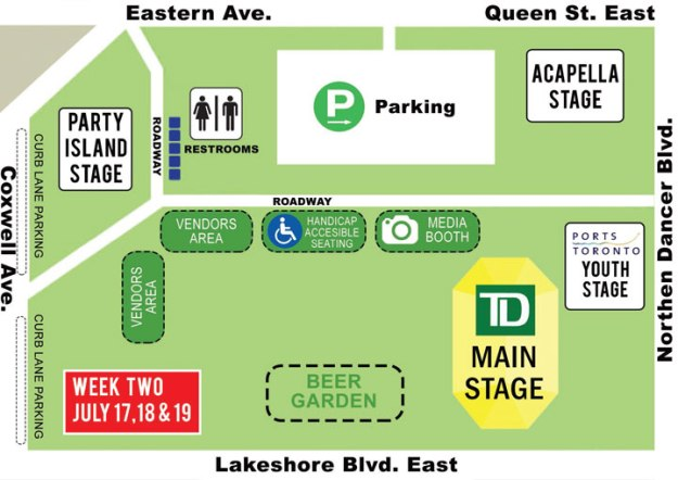 2015-Beaches-jazz-fest-WOODBINE-PARK-MAP-WEEK-TWO