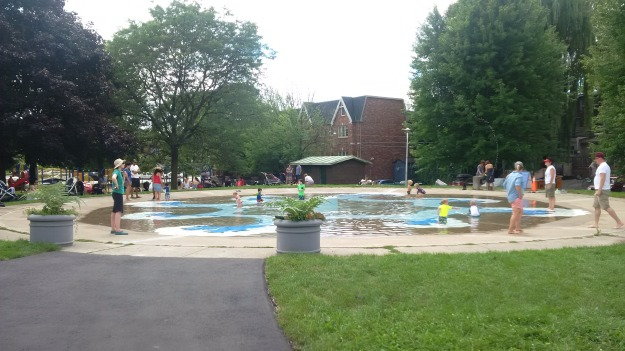 Wading pool at Jonathan Ashbridge Park, August 21, 2016.