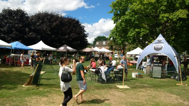 Flea market at Ashbridge Estate, August 21, 2016.